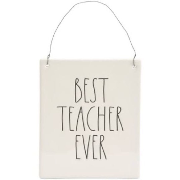 New Rae Dunn Best Teacher Ever wall plaque